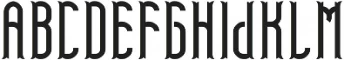 TelfordFont Regular otf (400) Font UPPERCASE