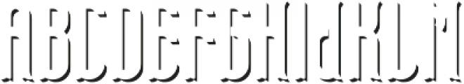 TelfordFont ShadowFX otf (400) Font UPPERCASE