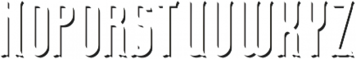 TelfordFont ShadowFX otf (400) Font LOWERCASE