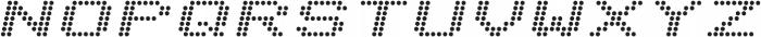 Telidon Expanded Bold Italic otf (700) Font UPPERCASE