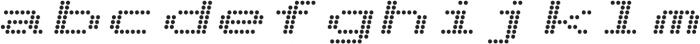 Telidon Expanded Bold Italic otf (700) Font LOWERCASE