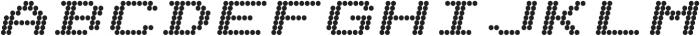 Telidon Expanded Heavy Italic otf (800) Font UPPERCASE