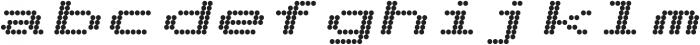 Telidon Expanded Heavy Italic otf (800) Font LOWERCASE