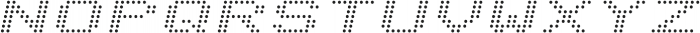 Telidon Expanded Italic otf (400) Font UPPERCASE