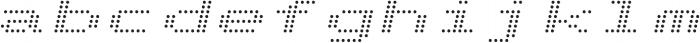 Telidon Expanded Italic otf (400) Font LOWERCASE