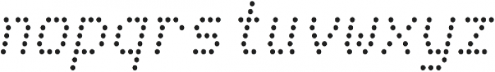 Telidon Italic otf (400) Font LOWERCASE