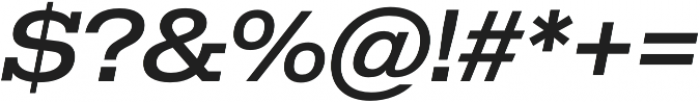 Temper Wide 46 otf (400) Font OTHER CHARS