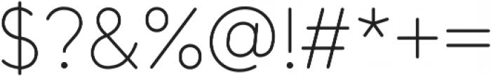 Tempoline otf (100) Font OTHER CHARS