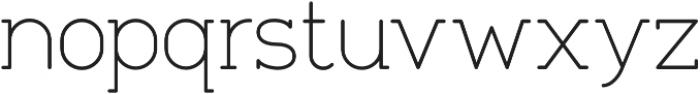 Tempoline otf (100) Font LOWERCASE