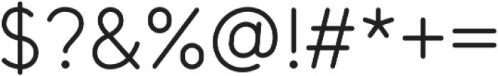 Tempoline otf (300) Font OTHER CHARS
