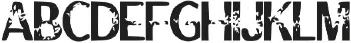 Tenure otf (400) Font UPPERCASE