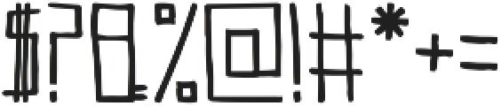 Teqniq ttf (400) Font OTHER CHARS