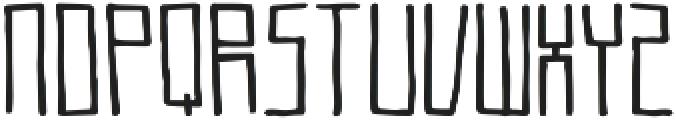 Teqniq ttf (400) Font LOWERCASE