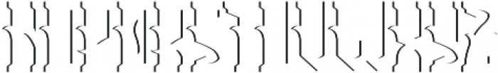 Tequila Sh FX otf (400) Font LOWERCASE