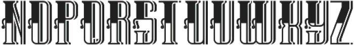 TequilaFont LightShadow otf (300) Font UPPERCASE