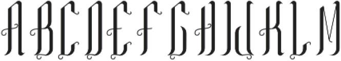TequilaFont Regular otf (400) Font UPPERCASE