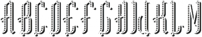TequilaFont TextureShadowFX otf (400) Font UPPERCASE