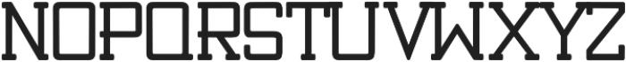 Teranus bold otf (700) Font UPPERCASE