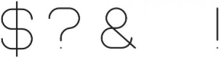 Teratur otf (100) Font OTHER CHARS