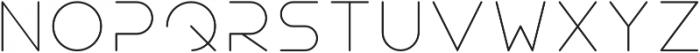 Teratur otf (100) Font LOWERCASE