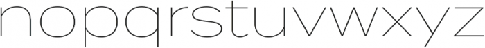 Termina Thin otf (100) Font LOWERCASE