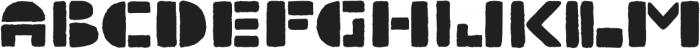 TerraStamp Regular ttf (400) Font UPPERCASE