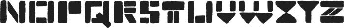 TerraStamp Regular ttf (400) Font LOWERCASE