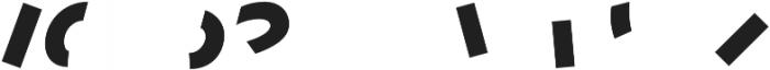 Terrazzo Color Layer 3 otf (400) Font LOWERCASE