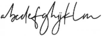 Testudo Signature otf (400) Font LOWERCASE