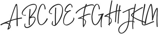 Tettingo Writing otf (400) Font UPPERCASE