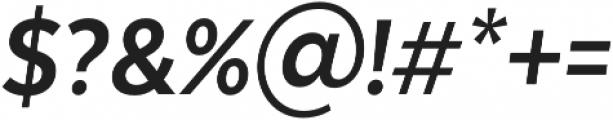 Texta Narrow Alt Bold Italic otf (700) Font OTHER CHARS