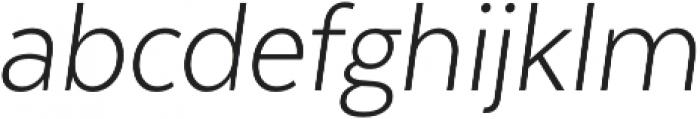 Texta Narrow Alt Light Italic otf (300) Font LOWERCASE