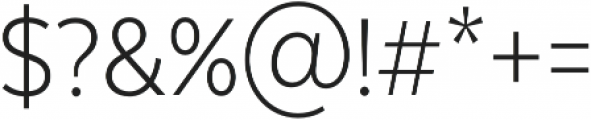 Texta Narrow Alt Light otf (300) Font OTHER CHARS