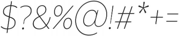 Texta Narrow Alt Thin Italic otf (100) Font OTHER CHARS