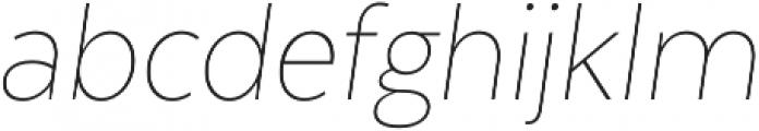 Texta Narrow Alt Thin Italic otf (100) Font LOWERCASE