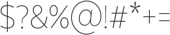 Texta Narrow Alt Thin otf (100) Font OTHER CHARS