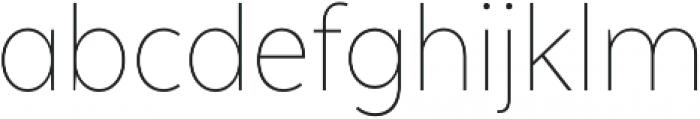 Texta Narrow Alt Thin otf (100) Font LOWERCASE