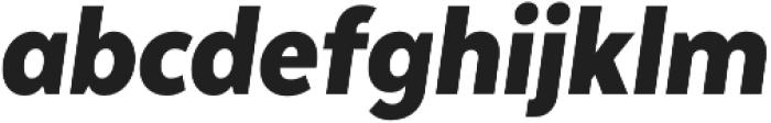 Texta Narrow Black Italic otf (900) Font LOWERCASE