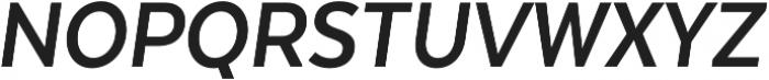 Texta Narrow Bold Italic otf (700) Font UPPERCASE
