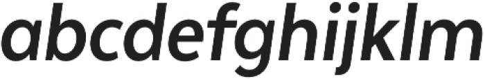 Texta Narrow Bold Italic otf (700) Font LOWERCASE