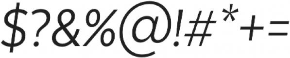 Texta Narrow Book Italic otf (400) Font OTHER CHARS