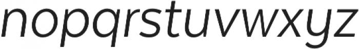 Texta Narrow Book Italic otf (400) Font LOWERCASE
