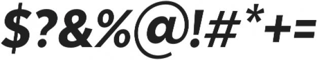 Texta Narrow Heavy Italic otf (800) Font OTHER CHARS
