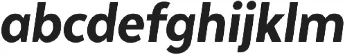 Texta Narrow Heavy Italic otf (800) Font LOWERCASE