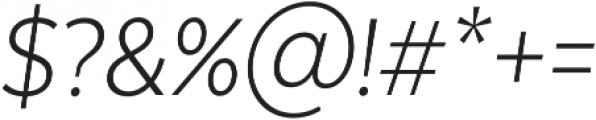 Texta Narrow Light Italic otf (300) Font OTHER CHARS