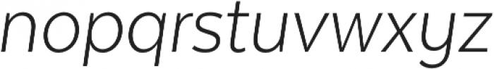 Texta Narrow Light Italic otf (300) Font LOWERCASE