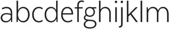 Texta Narrow Light otf (300) Font LOWERCASE