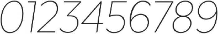 Texta Narrow Thin Italic otf (100) Font OTHER CHARS