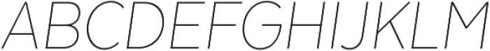 Texta Narrow Thin Italic otf (100) Font UPPERCASE