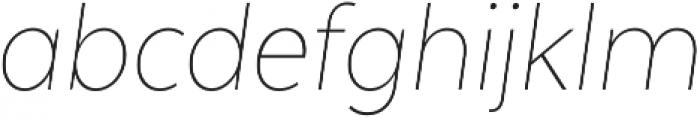 Texta Narrow Thin Italic otf (100) Font LOWERCASE